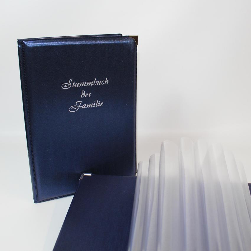 STB A5 mit Zierecken – blau Silberprägung