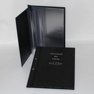 Stammbuchmappe A4 mit Schraubensteg