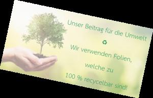 Unser Beitrag für die Umwelt