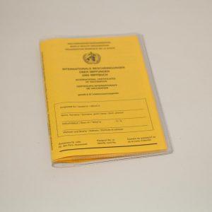 Hüllen für Impfausweis 20 x 13,8 cm transparent 8 cm Einsteckfach