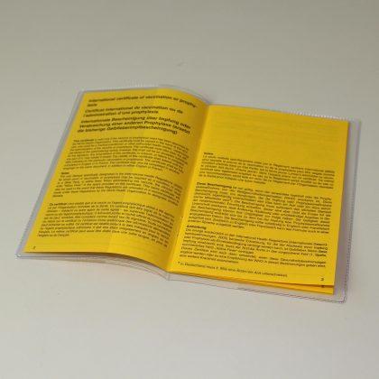 Hefthülle für Impfausweis20 x 13,8 cm mit 6 cm Einsteckfach